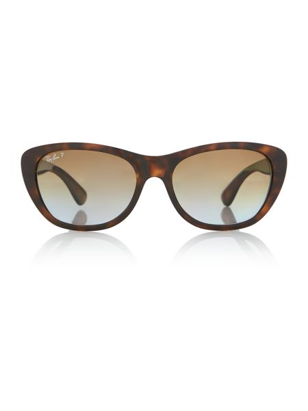 Ray-Ban Rb4227 female brown square sunglasses