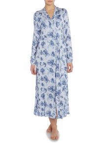 Smoke Floral Long Line Robe