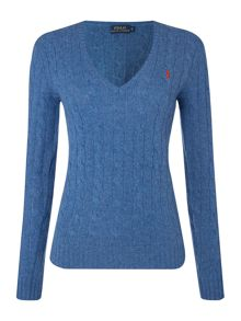 Long sleeved merino cashmere mix jumper