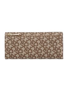 Saffiano neutral large flap over purse