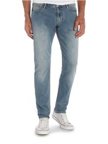J06 Light Wash Mid Rise Jeans