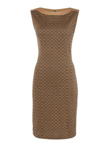 Linea Herringbone knitted shift dress