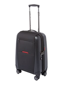Hylite II black 8 wheel cabin suitcase