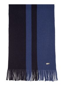Plain Ribbed Knit Scarf