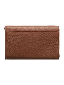 Tribeca tan medium flap over purse