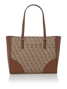 Coated logo neutral tote bag