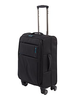 Spacelite II black 4 wheel soft cabin suitcase