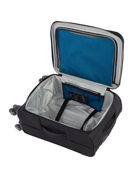 Linea Spacelite II black 4 wheel soft cabin suitcase