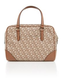 Coated logo neutral satchel bag