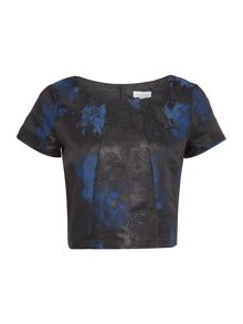 Untold Jaquard  3/4 sleeve top