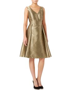 Untold Metallic fit and flare dress