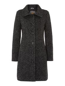 Large collar textured coat