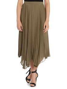 Vince Camuto Pleated skirt with asymmetric hem