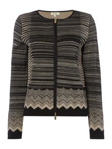 Linea Chevron zip up cardigan