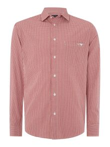 Regular fit pocket logo gingham shirt