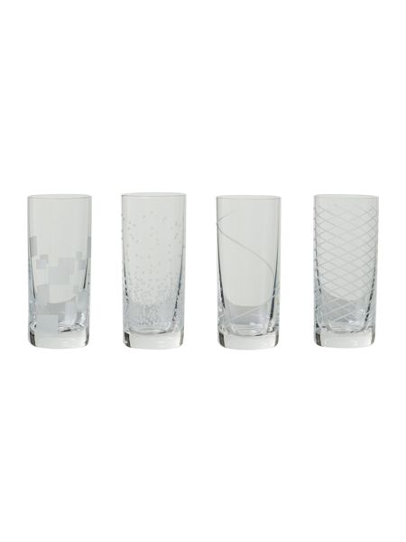 Linea Kimberley crystal shot glass set of 4