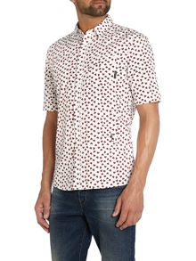 All Over Heart Print Short Sleeve Shirt
