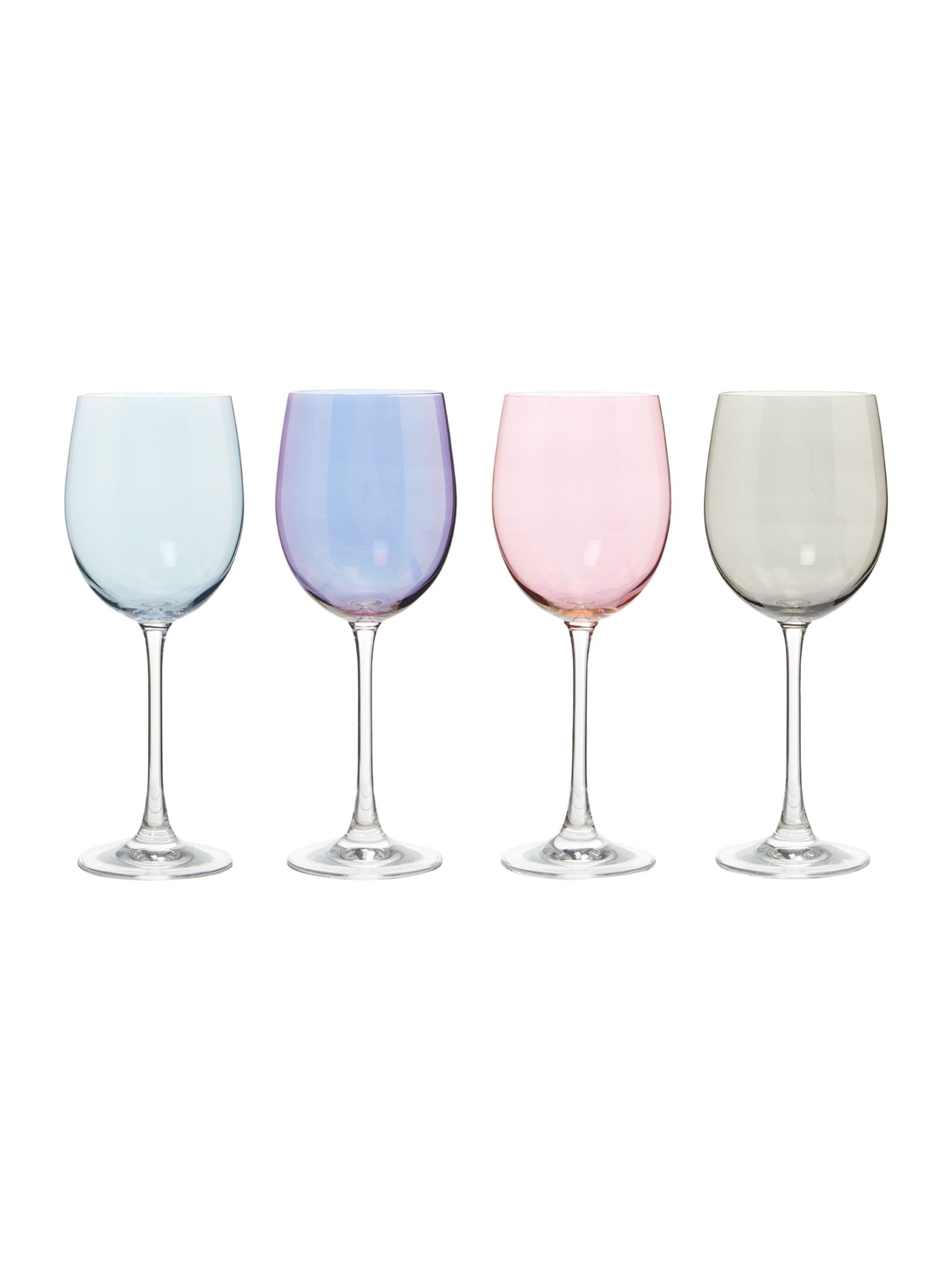 Linea Lustre crystal wine glasses set of 4