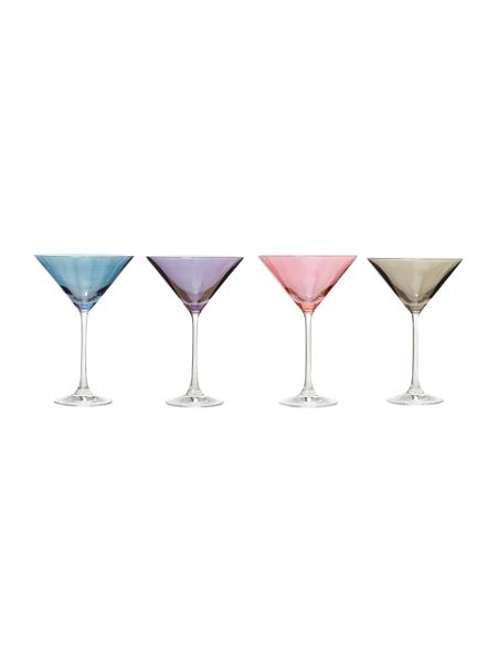 Linea Lustre crystal martini glasses set of 4