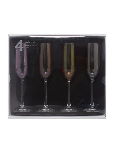 Linea Lustre crystal flutes set of 4