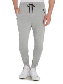 Slim Fit Knee-Panel Tracksuit Bottoms