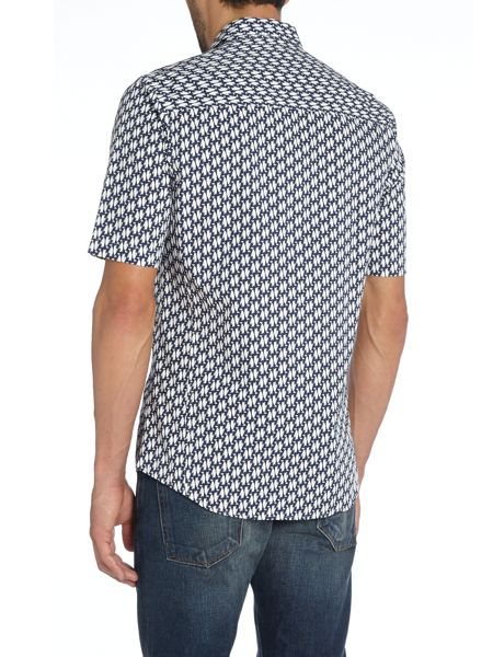 Religion All Over Penguin Print Short Sleeve Shirt