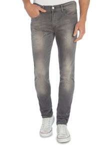 Skinny Fit Stretch Washed Grey Jeans