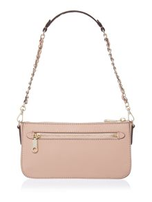 Saffiano light pink small cross body bag