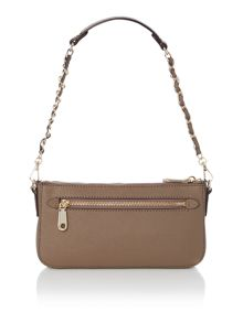 Saffiano taupe small cross body bag
