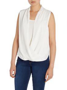 Sleeveless drape blouse
