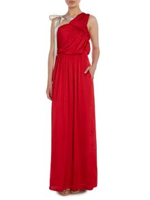 Needle and Thread Maxi dress with bow detail