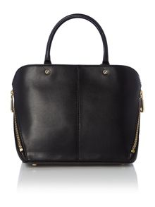 Greenwich black mini zip tote bag