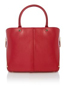 Greenwich red mini zip tote bag