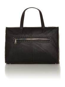 Stud black large tote bag