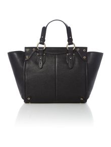 Chelsea black winged tote bag