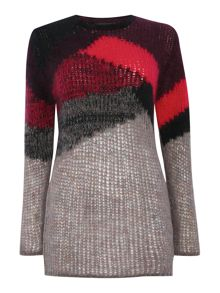 Diesel M-ronson mohair block colour jumper