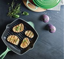 Le Creuset Exclusive Cast Iron 26cm Square Grillit Rosemary