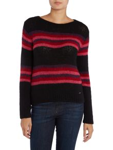 M-master striped knitted jumper