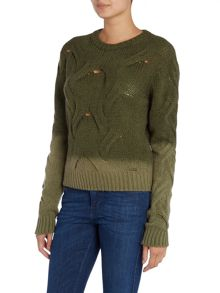 M-samiam ombre knitted jumper