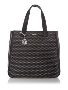 Stud black medium tote bag