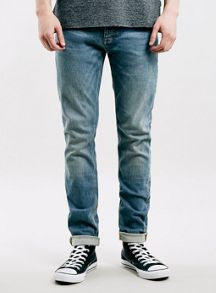 Topman Light Wash Stretch Skinny Jeans