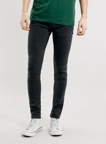 Dark wash spray on skinny jeans