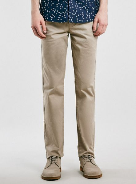 Topman Stone stretch slim chino