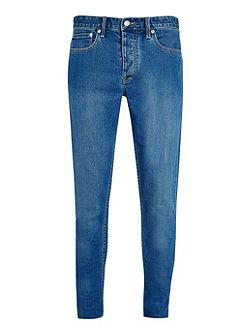 Mid wash stretch slim jeans