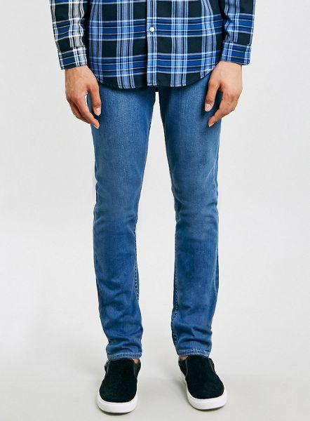 Topman Mid wash stretch slim jeans