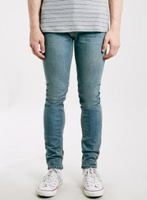 Light wash stretch skinny jeans
