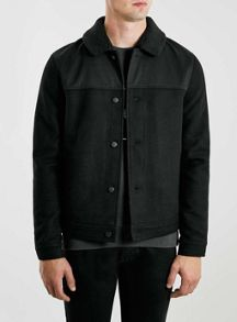 Topman Wool blend jacket with corg collar