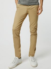 Topman Mustard stretch skinny chino