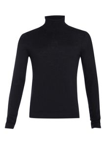 Premium 100% merino roll neck