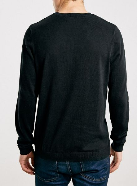 Topman Black Roll Neck